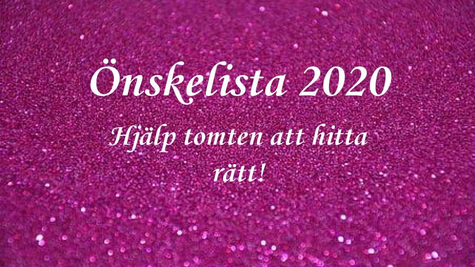 Önskelista 2020